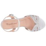 Silver Rhinestone 6,5 cm AUDREY-03 High Heeled Evening Sandals