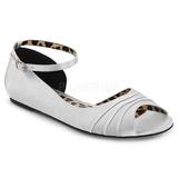 Silver Satin ANNA-03 big size ballerinas shoes