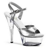Silver Transparent 15 cm Pleaser KISS-209 High Heels shoes