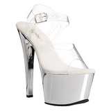 Silver Transparent 18 cm SKY-308 High Heels Platform