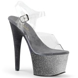 Silver glitter 18 cm Pleaser ADORE-708OMBRE Pole dancing high heels shoes