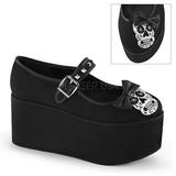 Skull canvas 8 cm CLICK-02-3 lolita shoes gothic platform shoes