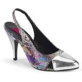 Slangenpatroon 10 cm DREAM-405 slingback pumps - travestie schoenen