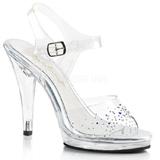 Strass steentjes 11,5 cm FLAIR-408SD high heels schoenen voor travestie