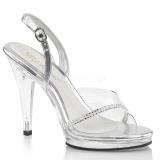 Strass steentjes 11,5 cm FLAIR-456 high heels schoenen voor travestie