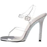 Strass steentjes 11,5 cm GALA-08DM Hoge avond sandalen met hak