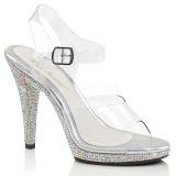 Strass steentjes 12 cm FLAIR-408DM high heels schoenen voor travestie