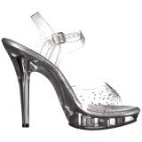 Strass steentjes 13 cm LIP-108SD sandalen met naaldhak
