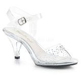 Strass steentjes 8 cm BELLE-308SD high heels schoenen voor travestie