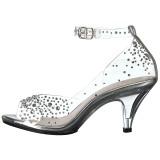 Strass steentjes 8 cm BELLE-330RS sandalen met naaldhak