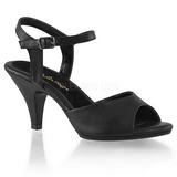 Svart Matte 8 cm BELLE-309 High Heels for Men