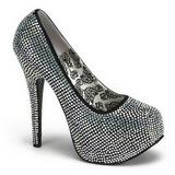 Titanium Rhinestone 14,5 cm TEEZE-06R Platform Pumps Women Shoes