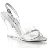 Transparant 10,5 cm LOVELY-456 Hoge Sandalen met Sleehakken