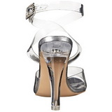 Transparant 11,5 cm CLEARLY-406 Hoge Avond Sandalen met Hak