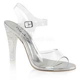 Transparant 11,5 cm CLEARLY-408MG Hoge avond sandalen met hak