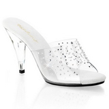 Transparant 11 cm CARESS-401RS Dames Slippers Kristal Hakken
