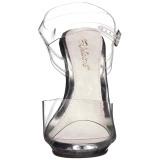 Transparant 12,5 cm POISE-508 sandalen met naaldhak