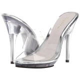Transparant 13 cm Fabulicious POISE-501 dames slippers met hak