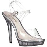 Transparant 13 cm LIP-108MG damesschoenen met hoge hak