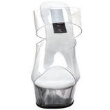 Transparant 15,5 cm Pleaser DELIGHT-602 Plateau Mules Schoenen