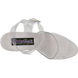 Transparant 15 cm BROOK-208 damesschoenen met hoge hak