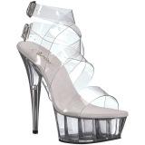 Transparant 15 cm DELIGHT-635 sandalen met naaldhak