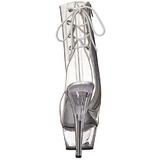 Transparant 15 cm KISS-1018C dames enkellaarsjes met plateauzool