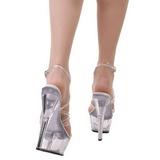 Transparant 15 cm KISS-206 Platform Schoenen met Hoge Hakken