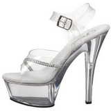 Transparant 15 cm KISS-208R damesschoenen met hoge hak
