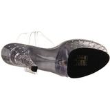 Transparant 15 cm STARDUST-608 damesschoenen met hoge hak