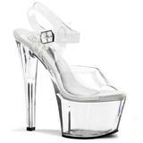 Transparant 18 cm TREASURE-708 stripper sandalen paaldans schoenen