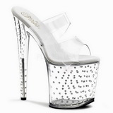 Transparant 20 cm Pleaser STARDUST-802 Strass Plateau Hoge Mules