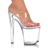 Transparant 20 cm XTREME-802 Platform Hoge Dames Slippers