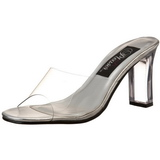 Transparant 8,5 cm ROMANCE-301 Hoge Dames Slippers