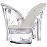 Transparant LED Gloeilamp 18 cm FLASHDANCE-701 Hoge Dames Slippers