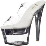 Transparant LED Gloeilamp 18 cm FLASHDANCE-702 Hoge Dames Slippers