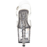 Transparant Strass 19 cm STARDUST-758 Sandalen met Hoge Hak