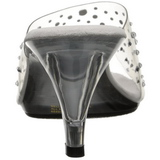 Transparant Strass 8 cm BELLE-301RS Hoge Mules Schoenen voor Mannen