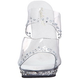 Transparant Strass Platform 13 cm LIP-102RS Hoge Dames Slippers