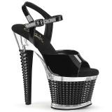 Transparante hakken 18 cm SPECTATOR-709 pleaser sandalen hoge hakken plateau