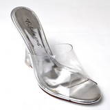 Transparent 10,5 cm LOVELY-401 Wedge Mules Shoes