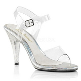 Transparent 10 cm CARESS-408MG High Heeled Evening Sandals