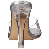 Transparent 11,5 cm CLEARLY-401 Plateau Women Mules Shoes