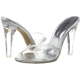 Transparent 11,5 cm CLEARLY-401R Plateau Women Mules Shoes