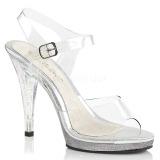 Transparent 11,5 cm FLAIR-408MG High Heels for Men