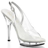Transparent 13 cm LIP-150 Platform High Heels Shoes