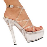 Transparent 15 cm KISS-206 Platform High Heels Shoes