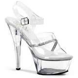 Transparent 15 cm KISS-208R Womens Shoes with High Heels