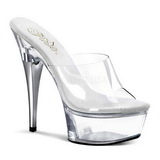 Transparent 15 cm Pleaser CAPTIVA-601 Platform High Mules