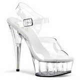 Transparent 15 cm Pleaser DELIGHT-608 High Heels Platform